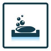 Soap-dish icon Stock Illustration