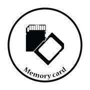 Memory card icon Vector illustration Stock Illustration