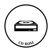 CD-ROM icon Vector illustration - stock illustration