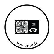 Power unit icon Vector illustration Stock Illustration