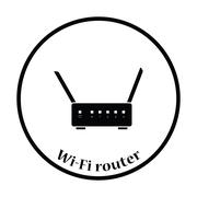 Wi-Fi router icon Vector illustration Stock Illustration