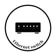 Ethernet switch icon Vector illustration Stock Illustration
