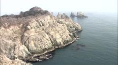 Seascape of Geoje-si, Gyeongsangnam-do, Korea Stock Footage
