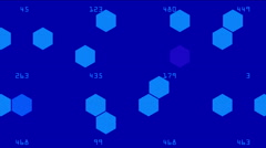4k Hexagon chemical molecular data information analysis geometry background. Stock Footage