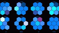 4k Hexagon chemical molecular data information analysis geometry background. Stock Footage