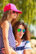 Mommy and daughter spending lovely time together. Stock Photos