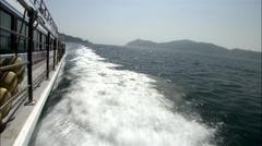 Seascape of Geoje-si, Gyeongsangnam-do, Korea - stock footage