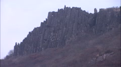 Landscape of Mudeungsan Mountain in Korea Stock Footage