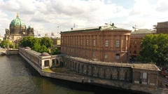 Area near Berlin Cathedral and Spree river june 2016 Stock Footage