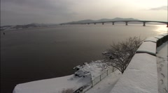 Winter Landscape of Incheon-si, Korea Stock Footage