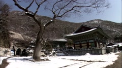 Traditional Temple of Incheon-si, Korea Stock Footage
