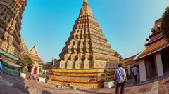 View at the Wat Pho Temple in Bangok Stock Footage