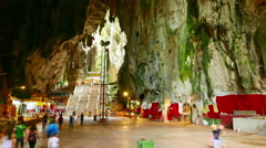 Entry of the Batu caves in Malaysia Stock Footage