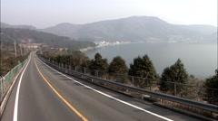 Coastal road of Geoje-si, Gyeongsangnam-do, Korea Stock Footage