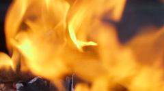 Flaming coal Stock Footage