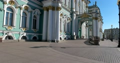 Main entrance, Winter Palace, Hermitage Museum, Saint Petersburg Stock Footage