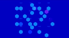 4k Hexagon chemical molecular,data information analysis geometry background. Stock Footage