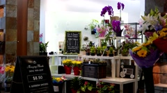 Fresh cut flowers in Amazing florals store inside Lougheed Town Centre mall Stock Footage