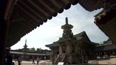 Traditional Ancient Building, Bulguk-sa Temple in Gyeongju-si, Gyeongbuk, Korea Stock Footage