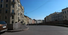 Moyka river embankment. In the morning, Saint Petersburg Stock Footage
