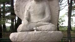 Statue of the Buddha in Gyeongju-si, Gyeongbuk, Korea Stock Footage