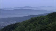 Landscape of mountain in Gyeongju-si, Gyeongbuk, Korea Stock Footage