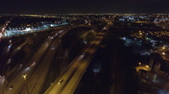 Aerial video Golden Glades interchange Stock Footage
