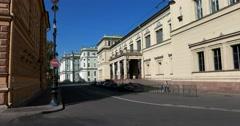 New Hermitage, Millionnaya street, Saint Petersburg Stock Footage