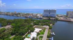 Aerial video Hollywood Beach Margaritaville Stock Footage