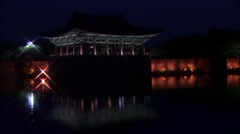 Traditional Ancient Building, Anapji Pond Pavilion, Temple in Gyeongju-si, Stock Footage