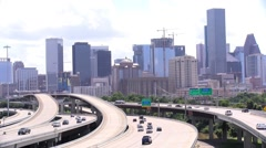Downtown Houston Wide-Shot Stock Footage