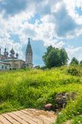 Holy spring of John the Baptist in summer Sunny day, the village Parsky, Ivan Stock Photos