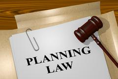 Planning Law legal concept Stock Illustration