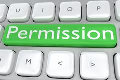 Permission safety concept Stock Illustration
