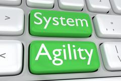 System Agility concept Stock Illustration