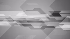 Abstract grey tech geometric video animation Stock Footage