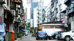 Daily life on a street in Kuala Lumpur - stock footage