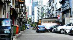 Daily life on a street in Kuala Lumpur Stock Footage