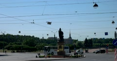 A.V.Suvorov statue, Saint Petersburg Stock Footage