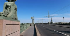 Troitsky bridge, Saint Petersburg Stock Footage