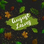 Hello August. Vector illustration - stock illustration