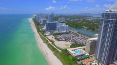 Aerial video of Eden Roc Miami Beach Stock Footage