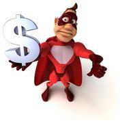 Fun superhero Stock Illustration