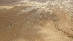 Masada - Desert near Masada Stock Footage