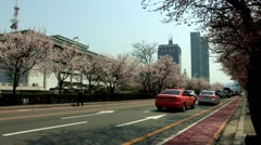 Spring Landscape of Yeouido, Seoul, Korea Stock Footage