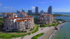 Fisher Island condominiums Stock Footage