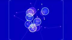 4k Circle wire dots aviation navigation radar GPS tech panel scan analysis. Stock Footage