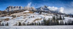 Winter on the Dolomiti of Alta Badia Stock Photos