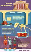 Museum Infographic Illustration - stock illustration