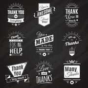 Thank You Chalkboard Signs - stock illustration